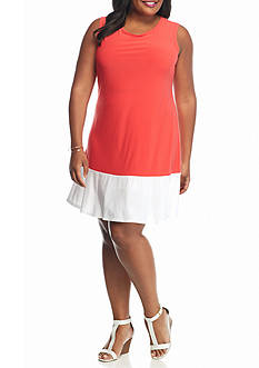 Tiana B Plus Size Colorblock A-line Dress