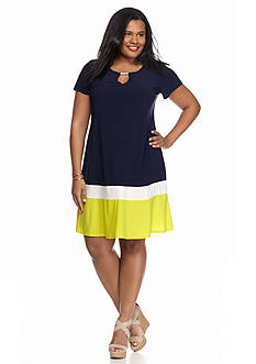 Tiana B Colorblock Shift Dress