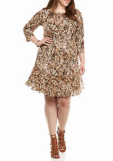 Tiana B Plus Size Animal Printed Dress