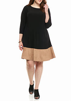 Tiana B Plus Size Colorblock Shift Dress