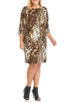 Tiana B Plus Size Animal Print Sheath Dress