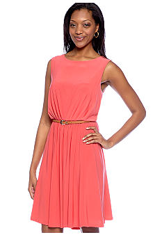 Tiana B Sleeveless Belted Jersey Dress