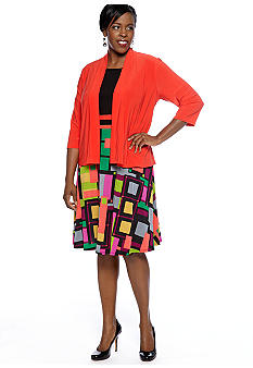 Tiana B Plus Size Jacket Dress