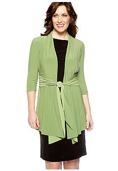 Tiana B Plus Size Three-Quarter Sleeved Faux Jacket Dress
