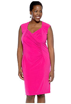 Tiana B Plus Size Cap-Sleeved Sheath Dress