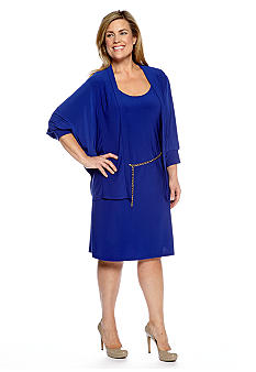 Tiana B Plus Size Two Piece Jacket Dress