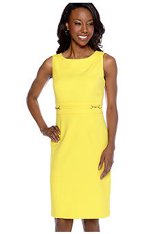 Tiana B Sleeveless Jacquard Sheath Dress