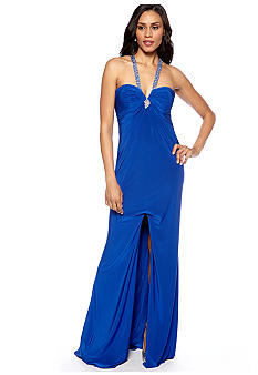 Blondie Nights Long Low Back with Beaded Straps Gown