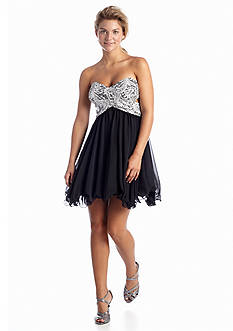 Blondie Nites Strapless Fit And Flare Dress