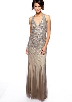 Nightway Halter Beaded Gown