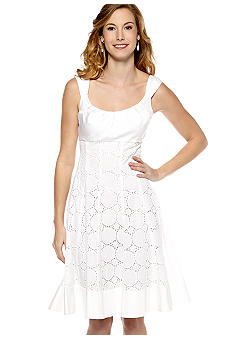 New Directions Sleeveless Fit and Flare Dress