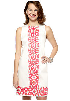 New Directions Sleeveless Printed Shift Dress