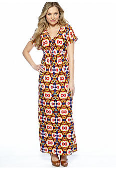 New Directions Dolman Sleeved Maxi Dress with Braided Neckline