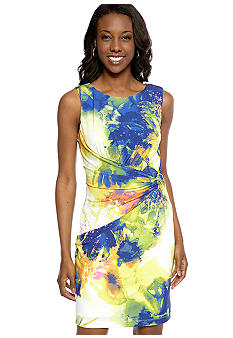 Suzi CHIN - maggy boutique Sleeveless Printed Matte Jersey Sheath Dress