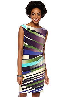 Suzi CHIN - maggy boutique Sleeveless Stripe Sheath Dress