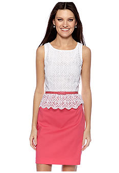 Suzi CHIN - maggy boutique Sleeveless Lace with Peplum Belted Dress