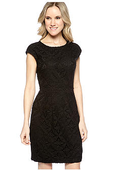 Ivy & Blu/maggy boutique Cap-Sleeved Allover Lace Sheath Dress