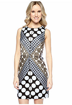 Ivy & Blu/maggy boutique Sleeveless Polka Dot Sheath Dress