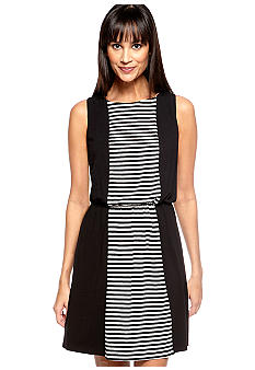Ivy & Blu/maggy boutique Sleeveless Stripe Blouson Dress