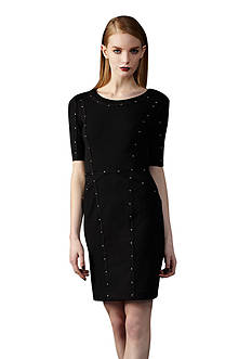 Ivy & Blu/maggy boutique Elbow-Sleeve Studded Sheath Dress