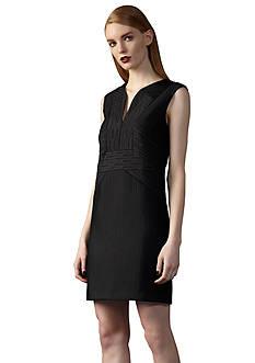 Ivy & Blu/maggy boutique Split Neckline Textured Shift Dress