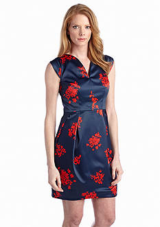 Ivy & Blu/maggy boutique Floral Printed Sheath Dress