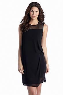 Ivy & Blu/maggy boutique Sleeveless Drape Shift Dress