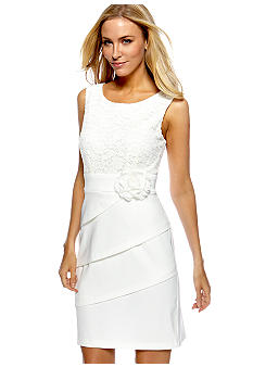 Connected Apparel Tiered Lace Dress