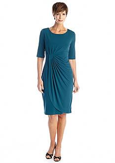 Connected Apparel Matte Jersey Wrap Dress