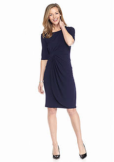 Connected Apparel Matte Jersey Wrap Dress