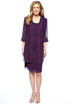 Dana Kay Three-Quarter Sleeved Jacket Dress