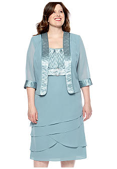 Dana Kay Tiered Skirt Jacket Dress