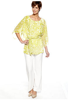 Dana Kay Tunic and Pant Set with Bead Detail