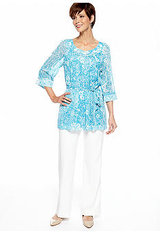 Dana Kay Three-Quarter Sleeved 2-Piece Pant Set