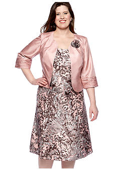 Dana Kay Plus Size Printed Jacket Dress