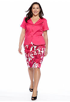 Dana Kay Plus Size Two Piece Skirt Set