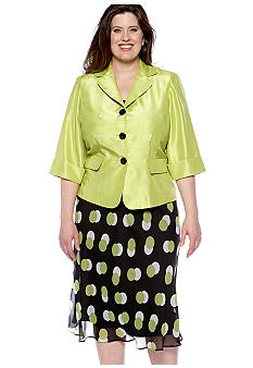 Dana Kay Plus Size Jacket and Skirt Set