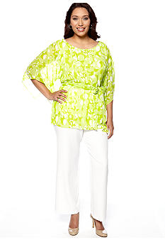 Dana Kay Plus Size Tunic with Pant Set