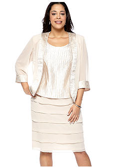 Dana Kay Plus Size Three Piece Skirt Set