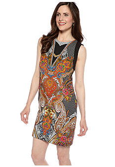 ECI New York Sleeveless Printed Shift Dress
