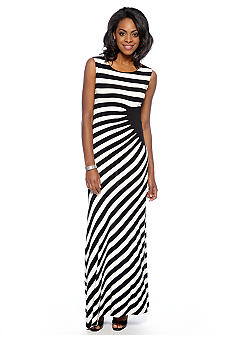 ECI New York Sleeveless Striped Tank Maxi Dress