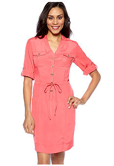 ECI New York Elbow Sleeved Shirtdress