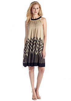ECI New York Printed Trapeze Dress