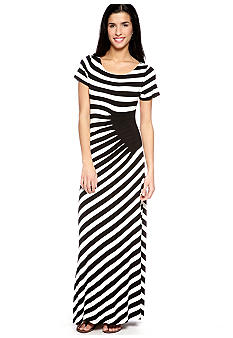 ECI New York Striped Short Sleeve Maxi
