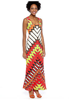 ECI New York Sleeveless Printed Maxi Dress