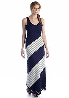 Beige by ECI Sleeveless Colorblock Maxi Dress