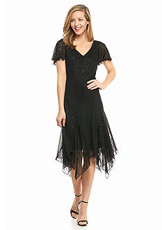 JKARA Beaded Cocktail Dress