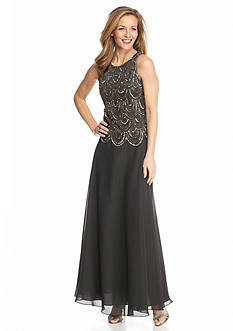 JKARA Mock Two-Piece Gown