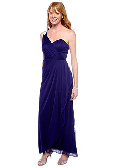 Xscape Long One Shoulder Dress