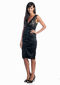 Xscape Sleeveless Cocktail Dress